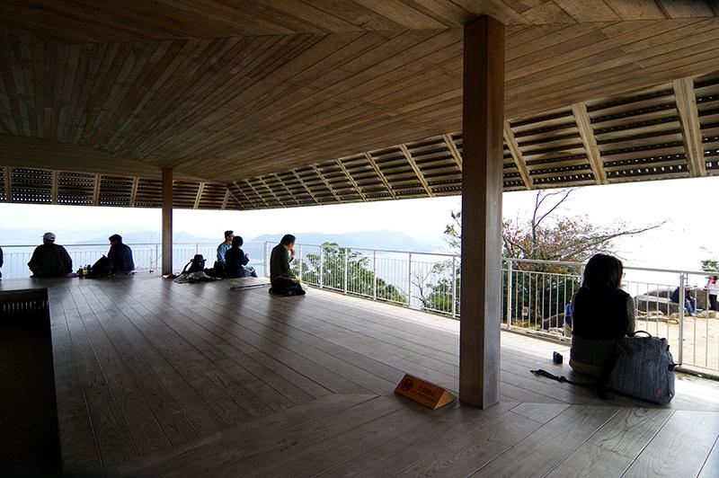 宮島弥山山頂の展望台