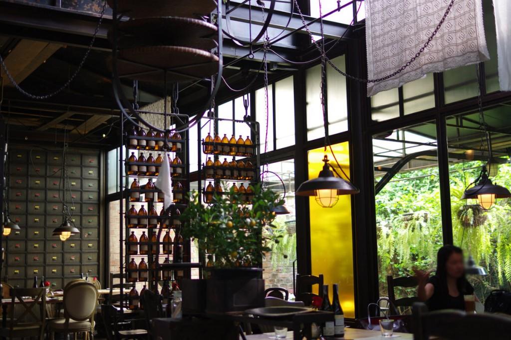 有名なアロマブランドが展開しているレストラン。